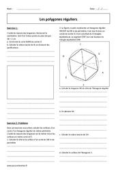Polygones réguliers - Révisions brevet : 3eme Secondaire