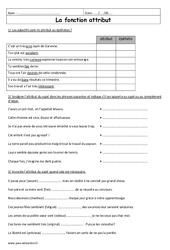 Attribut - Exercices à imprimer : 6eme Primaire