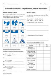 Valeurs approchées, simplifications - Exercices - Ecriture fractionnaire : 2eme Secondaire