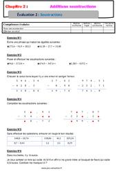 Soustraction des nombres décimaux - Examen Evaluation, bilan, contrôle avec la correction : 6eme Primaire