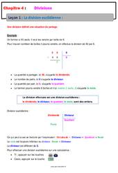 La division euclidienne - Cours - Divisions : 6eme Primaire