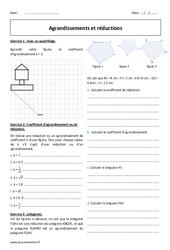 Réductions - Agrandissements - Exercices à imprimer : 2eme Secondaire