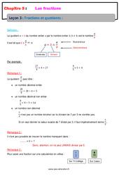 Fractions et quotients - Cours - Les fractions : 6eme Primaire