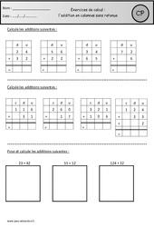 Addition en colonnes sans retenue - Exercices à imprimer : 1ere Primaire