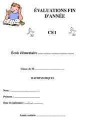 Mathématiques - Bilan fin d'année avec corrigés : 2eme Primaire