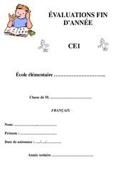 Français - Bilan fin d'année avec corrigés : 2eme Primaire