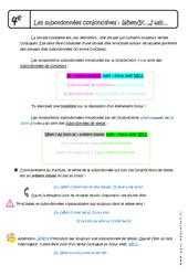 Subordonnées conjonctives - Fiches When - If - I will - Cours : 2eme Secondaire