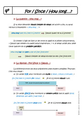For - Since - How long - Cours : 2eme Secondaire