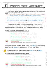 Propositions subordonnées relatives complexifiées - Cours : 2eme Secondaire