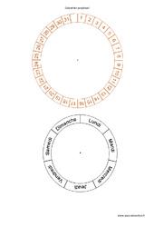 Calendrier perpétuel - Roue - Outils pour la classe : Primaire - Cycle Fondamental