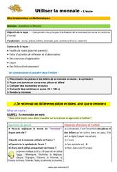 Utiliser la monnaie (l'euro) - SEGPA - EREA - Décrochage scolaire : 4eme, 5eme, 6eme Primaire