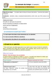 La mesure du temps (le calendrier) - SEGPA - EREA - Décrochage scolaire : 4eme, 5eme, 6eme Primaire