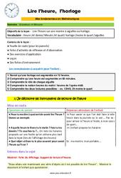 Lire l'heure et l'horloge - SEGPA - EREA - Décrochage scolaire : 4eme, 5eme, 6eme Primaire