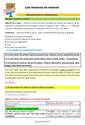 Les mesures de masses - SEGPA - EREA - Décrochage scolaire : 4eme, 5eme, 6eme Primaire