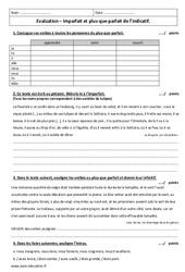 Plus - que - parfait - Imparfait - Examen Contrôle à imprimer : 1ere Secondaire