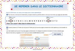 Se repérer dans le dictionnaire - Affiche : 2eme, 3eme, 4eme, 5eme Primaire