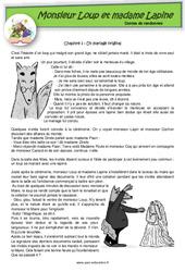 Monsieur Loup et madame Lapine - Contes de randonnée - Questionnaires : 2eme, 3eme Primaire