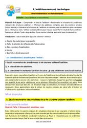 L'addition - sens et technique - SEGPA - EREA - Décrochage scolaire : 4eme, 5eme, 6eme Primaire