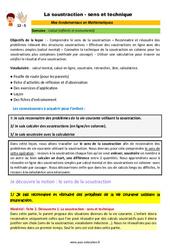 La soustraction - sens et technique - SEGPA - EREA - Décrochage scolaire : 4eme, 5eme, 6eme Primaire