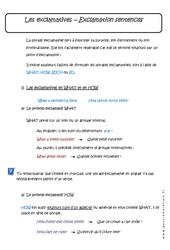Exclamatives - Exclamation sentences - Cours : 3eme Secondaire