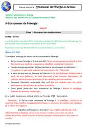 Besoins en énergie, en eau - Consommer en France - Séquence complète : 4eme Primaire