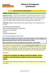 Mesures de longueurs et décimaux - SEGPA - EREA - Décrochage scolaire : 4eme, 5eme, 6eme Primaire