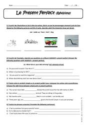 Present Perfect - Exercices corrigés à imprimer : 3eme Secondaire