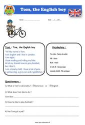 Tom, the English boy - Anglais - Lecture - Level 3 : 4eme, 5eme Primaire
