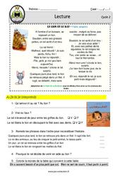 Le lion et le rat - Fable - Lecture - EDL : 2eme, 3eme Primaire