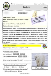 L'ours polaire - Documentaire - Lecture - EDL : 2eme, 3eme Primaire