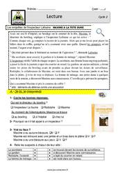 Maxime a la tête dure - Enquête inspecteur Lafouine - EDL : 2eme, 3eme Primaire
