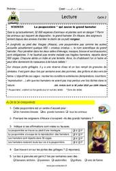 Pouponnière et le grand hamster - Lecture - EDL : 2eme, 3eme Primaire