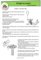 Voyage en ballon - Contes de randonnée - Questionnaires : 2eme, 3eme Primaire