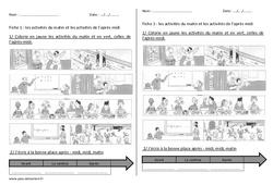 Journée - Séquence - Fiche de préparation : 1ere, 2eme Primaire