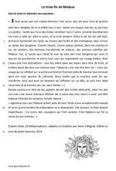 La triste fin de Méduse - Lecture - récit : 6eme Primaire