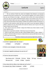 Harry Potter à l'école des sorciers - Lecture - EDL - Décrochage scolaire : 4eme, 5eme, 6eme Primaire