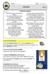 Le loup et l'agneau - Fable Lafontaine - Lecture - EDL - Décrochage scolaire : 4eme, 5eme, 6eme Primaire