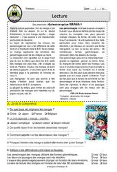 Qu'est - ce qu'un manga? - Lecture - EDL - Décrochage scolaire : 4eme, 5eme, 6eme Primaire