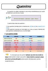 Questions - Cours : 3eme Secondaire