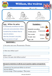 William the walrus - Anglais - Lecture - Level 2 : 2eme, 3eme, 4eme, 5eme Primaire