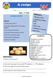 A recipe - Anglais - Lecture - Level 4 : 4eme, 5eme Primaire