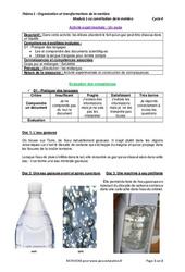 Un soda - Activité expérimentale avec le corrigé : 1ere Secondaire