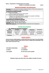 Une recette de sirop - Démarche d'investigation avec les corrections : 1ere Secondaire