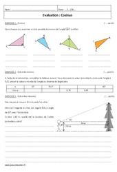 Cosinus - Examen Contrôle : 2eme Secondaire