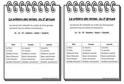 Présent des verbes du 2e groupe - Cours, Leçon : 3eme Primaire