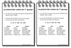 Verbes du 1er groupe au présent - Cours, Leçon : 3eme Primaire