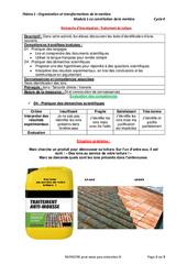 Traitement de toiture - Démarche d'investigation avec les corrigés : 3eme Secondaire