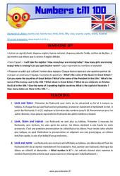 Numbers till 100 - Anglais - Lexique - Séquence complète : 4eme, 5eme Primaire
