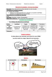 Une leçon de pilotage - Démarche d'investigation avec les corrections : 3eme Secondaire