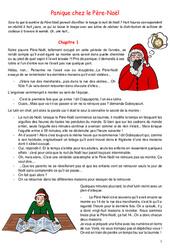 Panique chez le Père - Noël - Conte de noël : 3eme, 4eme, 5eme Primaire